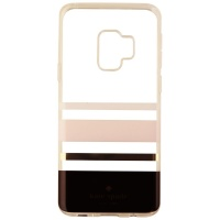 Kate Spade Flexible Hardshell Case for Galaxy S9 - Charlotte Stripe Black