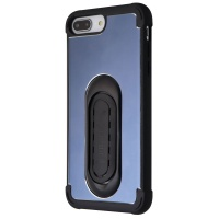 Scooch Clipstic Pro Series Metallic Case for iPhone 8 Plus/7 Plus - Steel Blue