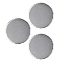 PopSockets PopMini Grips for Phones and Tablets (3 Pack) - Aluminum Silver