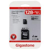 Gigastone 128GB 48MB/s (U1) Micro SD Card with Adapter