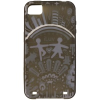 iLuv Dream Soft-Coated TPU Case for Apples iPhone 4s / 4 - Transparent Black