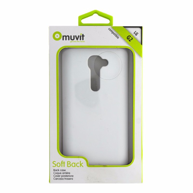 Muvit Soft Back Case Cover for LG G2 - White