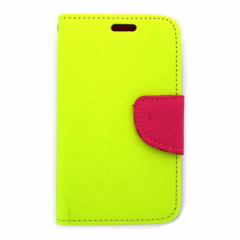 Open Mobile Wallet Case for Unimax Pink and Yellow