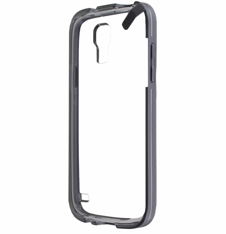PureGear Slim Shell Case for Samsung Galaxy S4 Mini Clear w/ Gray Trim