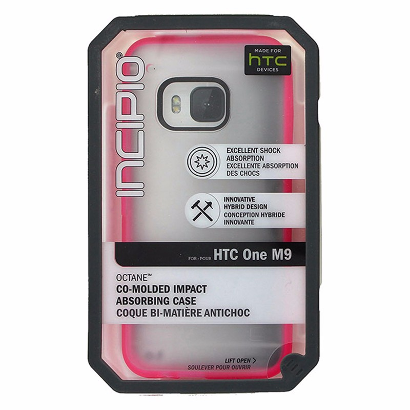 Incipio Octane Impact Case for HTC One M9 Frost w/ Pink Trim