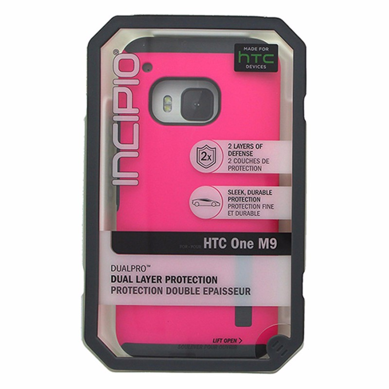 Incipio DualPro Case for HTC One M9 Pink and Gray