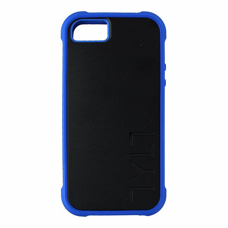 Tylt Bumpr Case for Apple iPhone 5/5S/SE Black and Blue