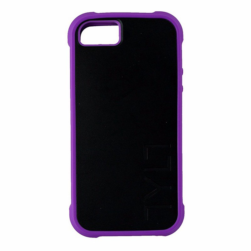 Tylt Bumpr Case for Apple iPhone 5/5S/SE Black and Purple