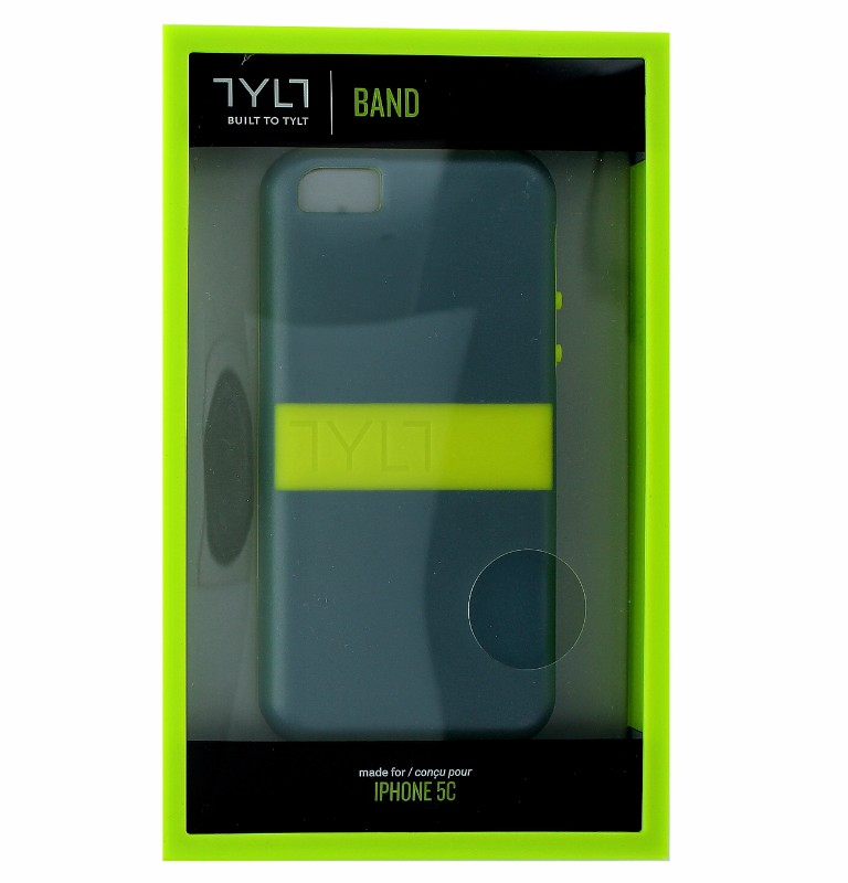 Tylt Band Case for Apple iPhone 5C - Gray and Neon Green