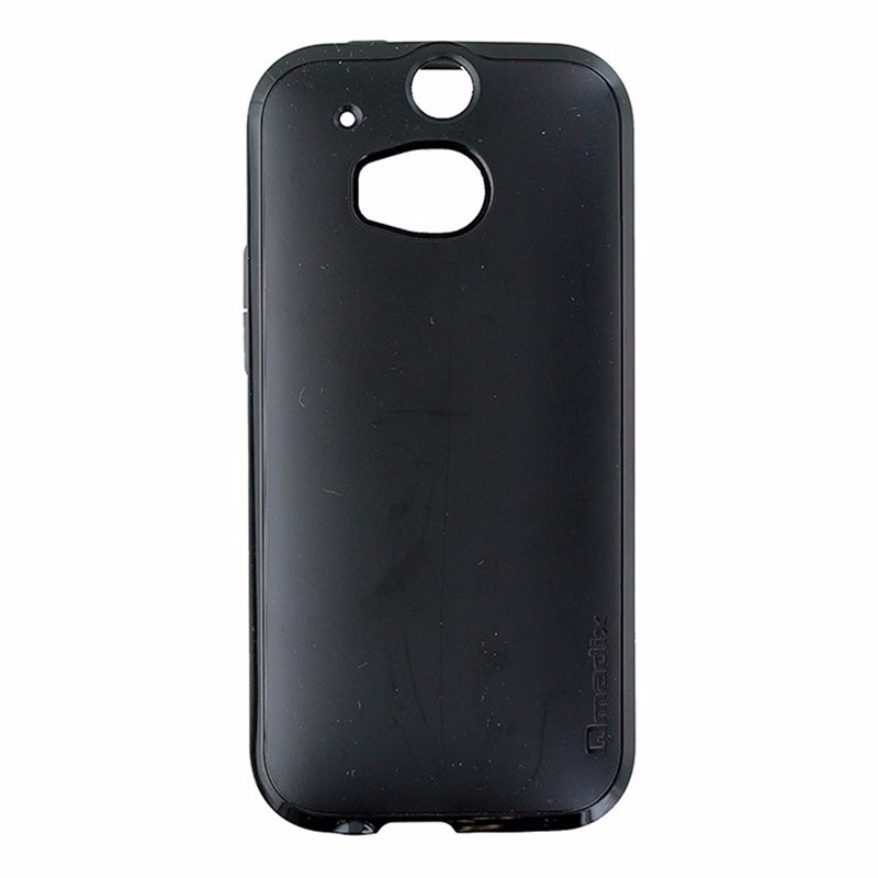 Qmadix S-Series Double Layer Case for HTC One M8 - Black on Black