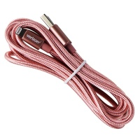 Verizon (CABLGHTRSGLD-M2) Braided Lightning Charge-and-Sync Cable - Pink