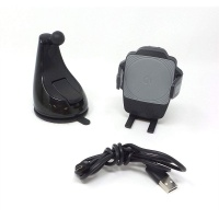 Bracketron Power Up Clamp Mount Qi Charging Dash or Vent Mount - BT2-949-2