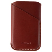 Granite Leather Sleeve Pouch Card Case for Palm Phone - Brown