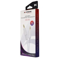 Xtreme 3.5mm Audio Transfer Data Cable - White 50602