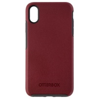 OtterBox Symmetry Series Case for Apple iPhone XS Max - Fine Port (Maroon/Gray)
