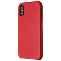 Case-Mate Barely There Slim Leather Case for Apple iPhone XS and X - Red