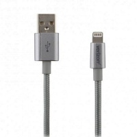 Verizon Braided 4FT USB to Lightning Charge-and-Sync Cable - Gray - CABLGHTGRY-M