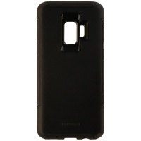 Granite Hybrid Genuine Leather Case Cover for Samsung Galaxy S9 - Black