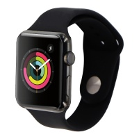 Apple Watch (1st Gen) 42mm (A1554) Space Black Stainless Steel/Black Sport Band