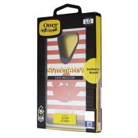 OtterBox Symmetry Case for LG V30 and V30+ (Plus) - Red & White Stripe/Clemson