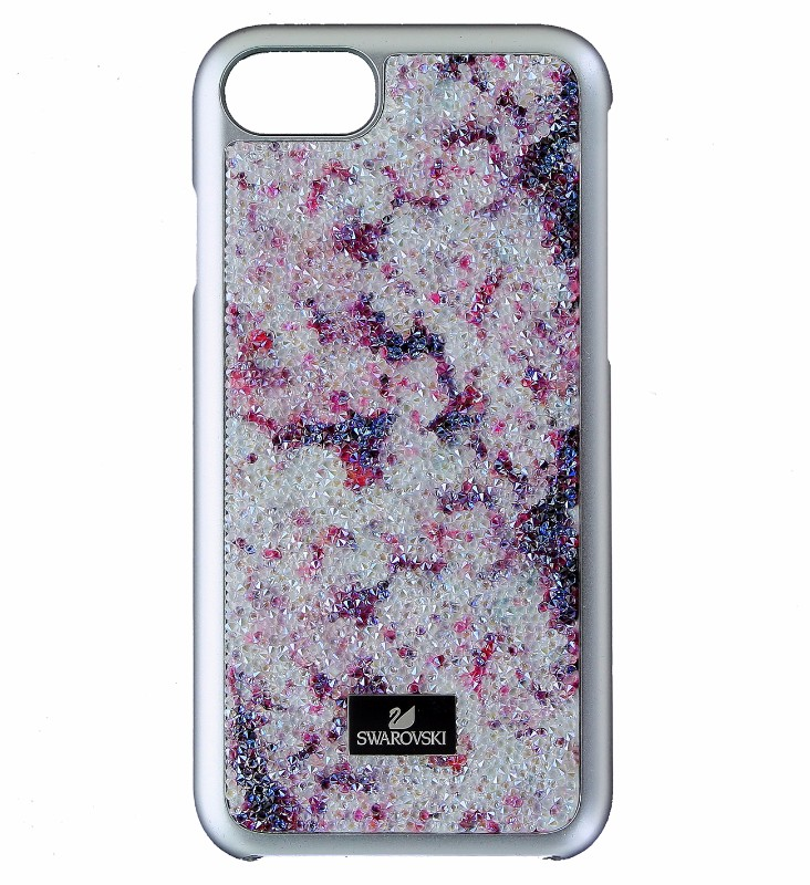 Swarovski Glam Rock Case for Apple iPhone 8 / 7 - Silver / Purple and Clear Gems