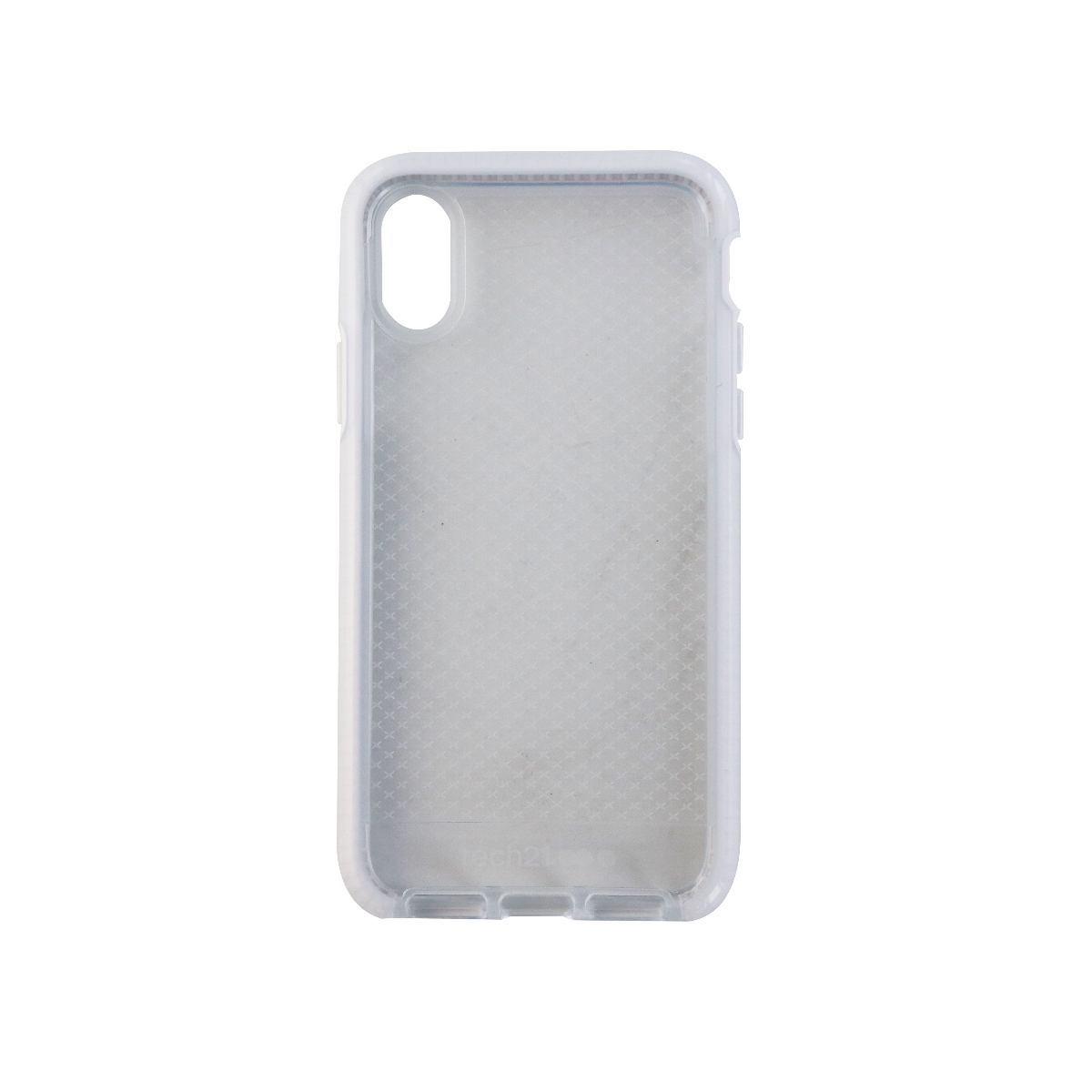 Tech21 Evo Check Protective Case Cover for iPhone X 10 - Clear/White