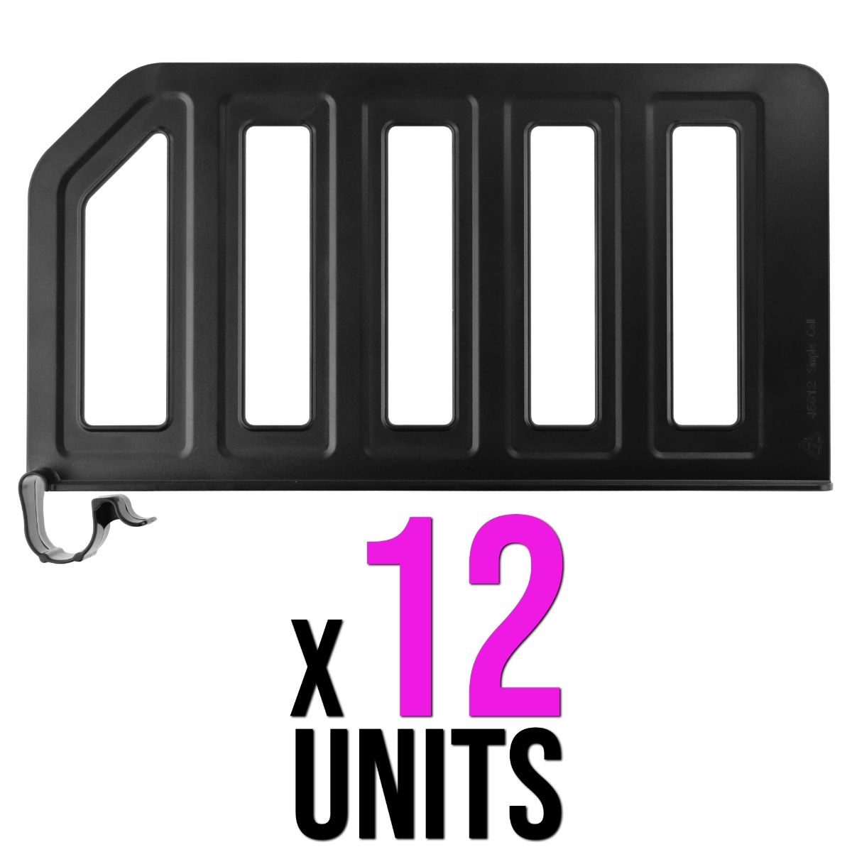12 PACK - Simple Cell Shelf / Closet Separator w/ Snap on Clip 12 x 6 Inch