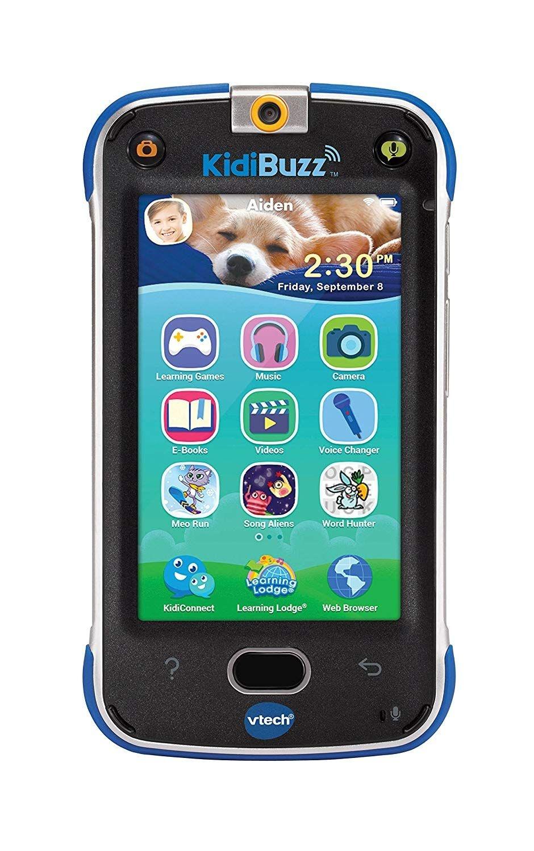 VTech KidiBuzz Hand-Held Smart Device for Kids - Silver/Blue