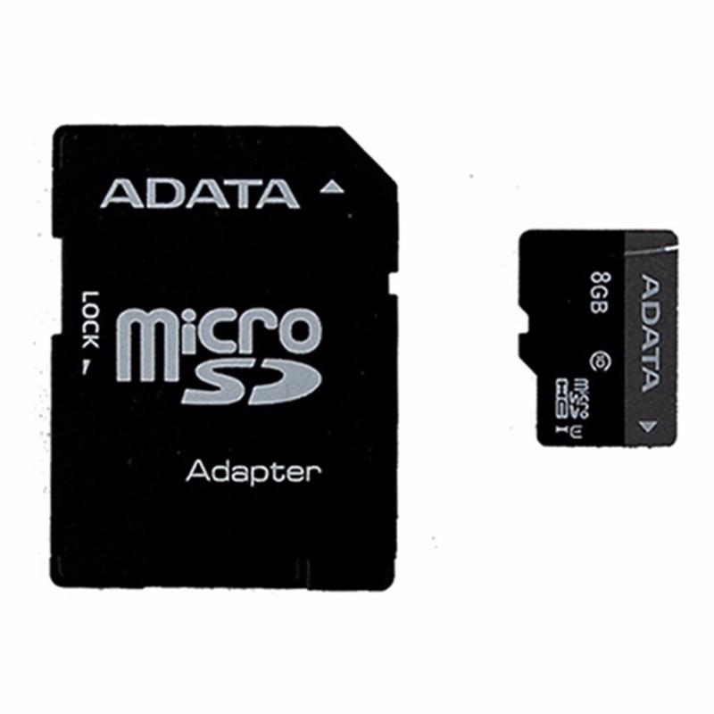 ADATA Premier 8GB microSDHC/SDXC UHS-I U1 Memory Card with Adapter