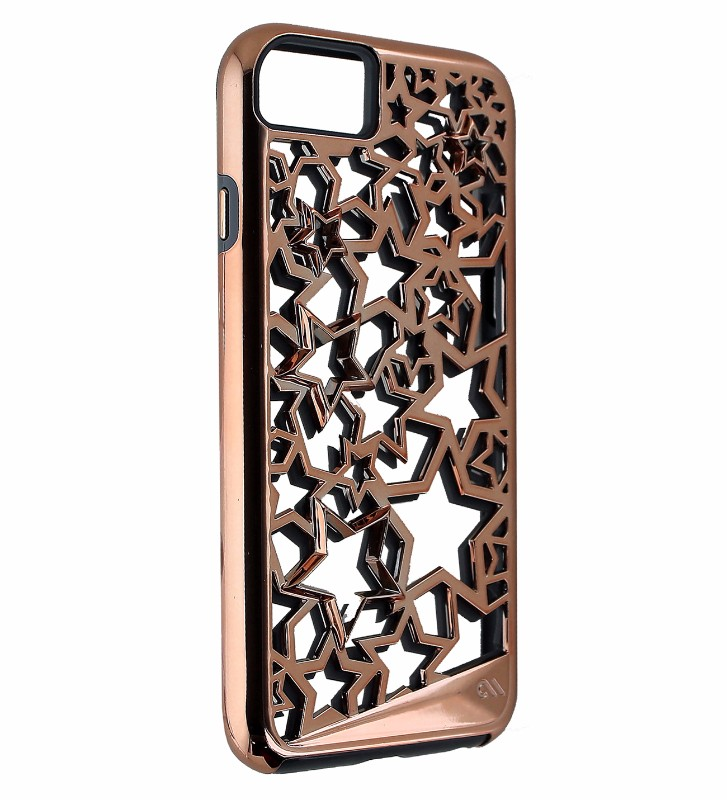 Case-Mate Tough Layers Protective Case Cover for iPhone 7 6s 6 - Rose Gold Stars