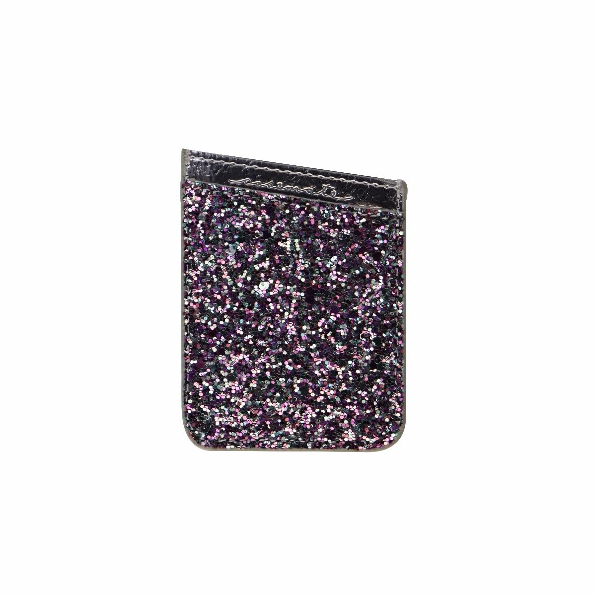 Case-Mate Pockets Series Stick On Card Holder for Smartphones - Silver Glitter