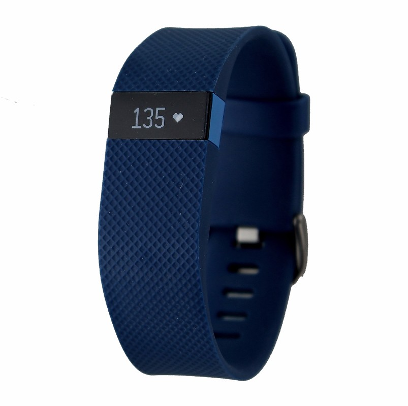 Fitbit Charge HR Wireless Activity Wristband Android iOS - Blue / Large FB405BUL