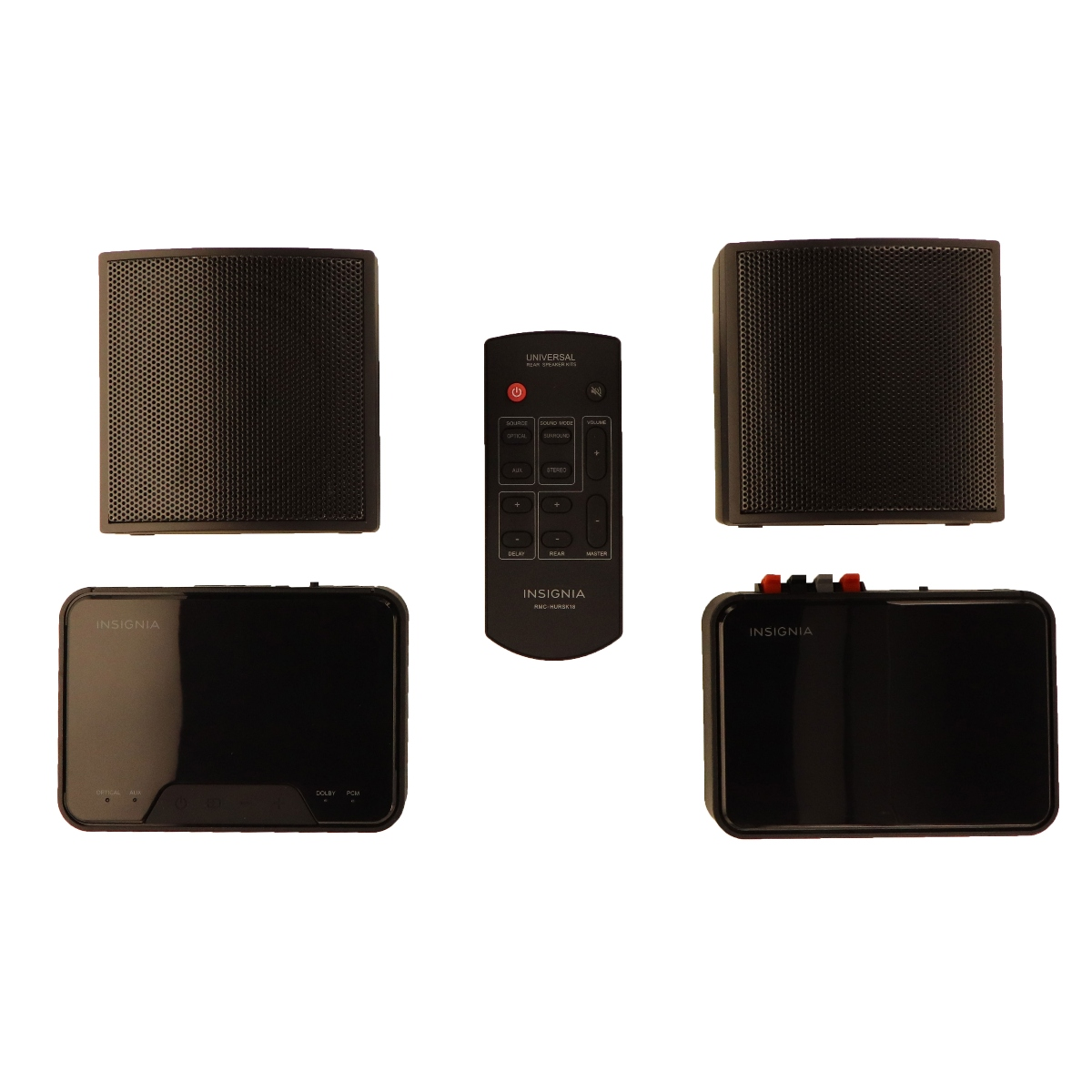 Insignia Universal Dolby Audio Wireless Rear Speaker Kit with 2 Speakers - Black