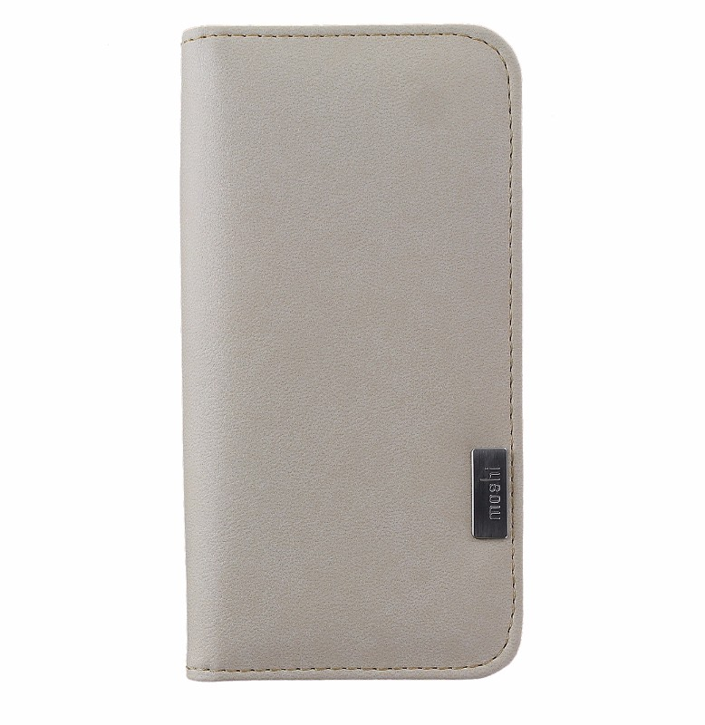 MOSHI Overture Premium Wallet Protective Case Cover for iPhone 8 7 - Beige
