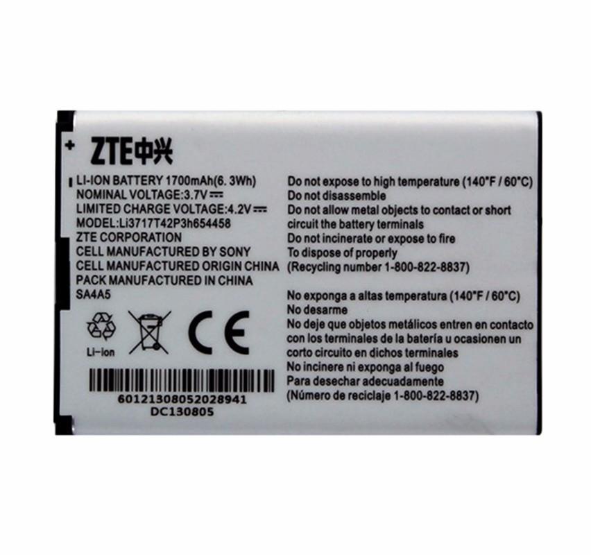 OEM ZTE LI3717T42P3H654458 1750 mAh Replacement Battery for ZTE Hotspot 890L