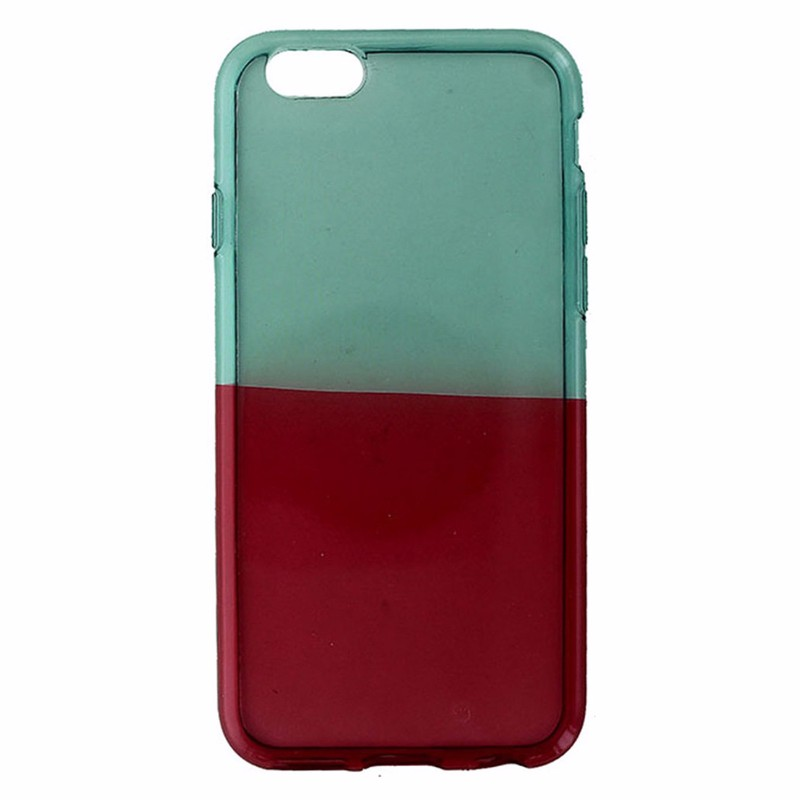 Insignia Soft Shell Case for Apple iPhone 6S / 6 - Translucent Teal & Red