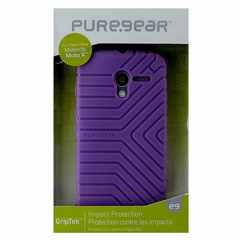 PureGear GripTek Impact Case for Motorola Moto X - Lavender / Purple