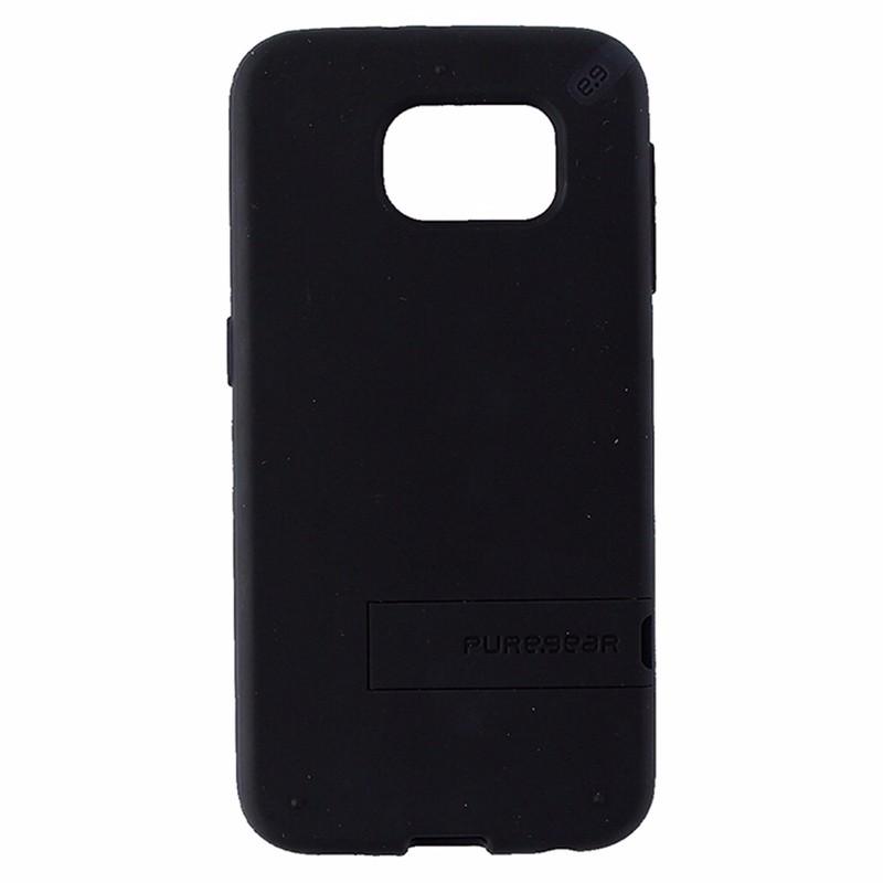 PureGear Slim Shell Case with Kickstand for Samsung Galaxy S6 - Matte Black