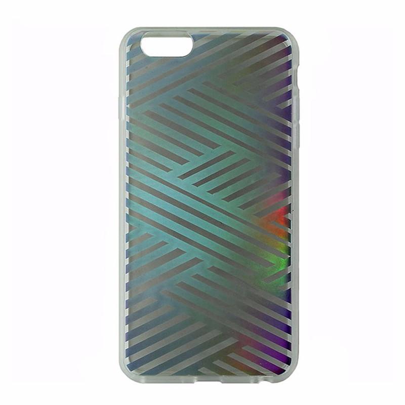 Sonix Clear Coat Case for iPhone 6 6S Plus Criss Cross Rainbow