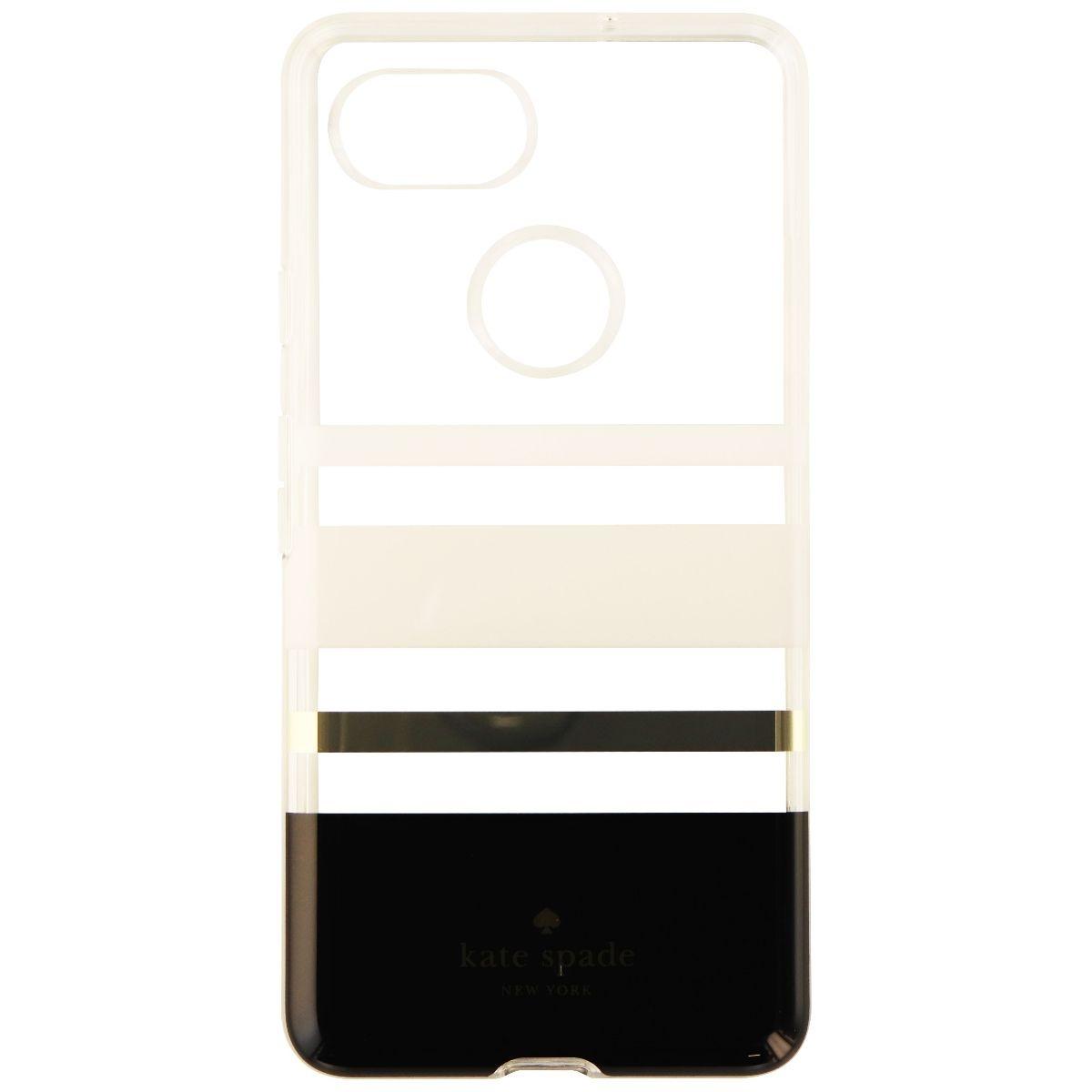 Kate Spade Flexible Hardshell Case Cover For Pixel 2 XL White Clear (Charlotte)
