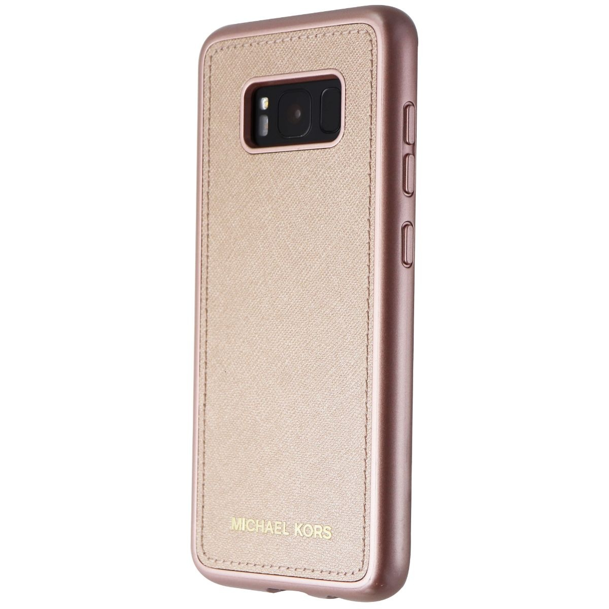 08e25d775b1d Michael Kors Snap-On Leather Case for Samsung Galaxy S8 - Rose Gold