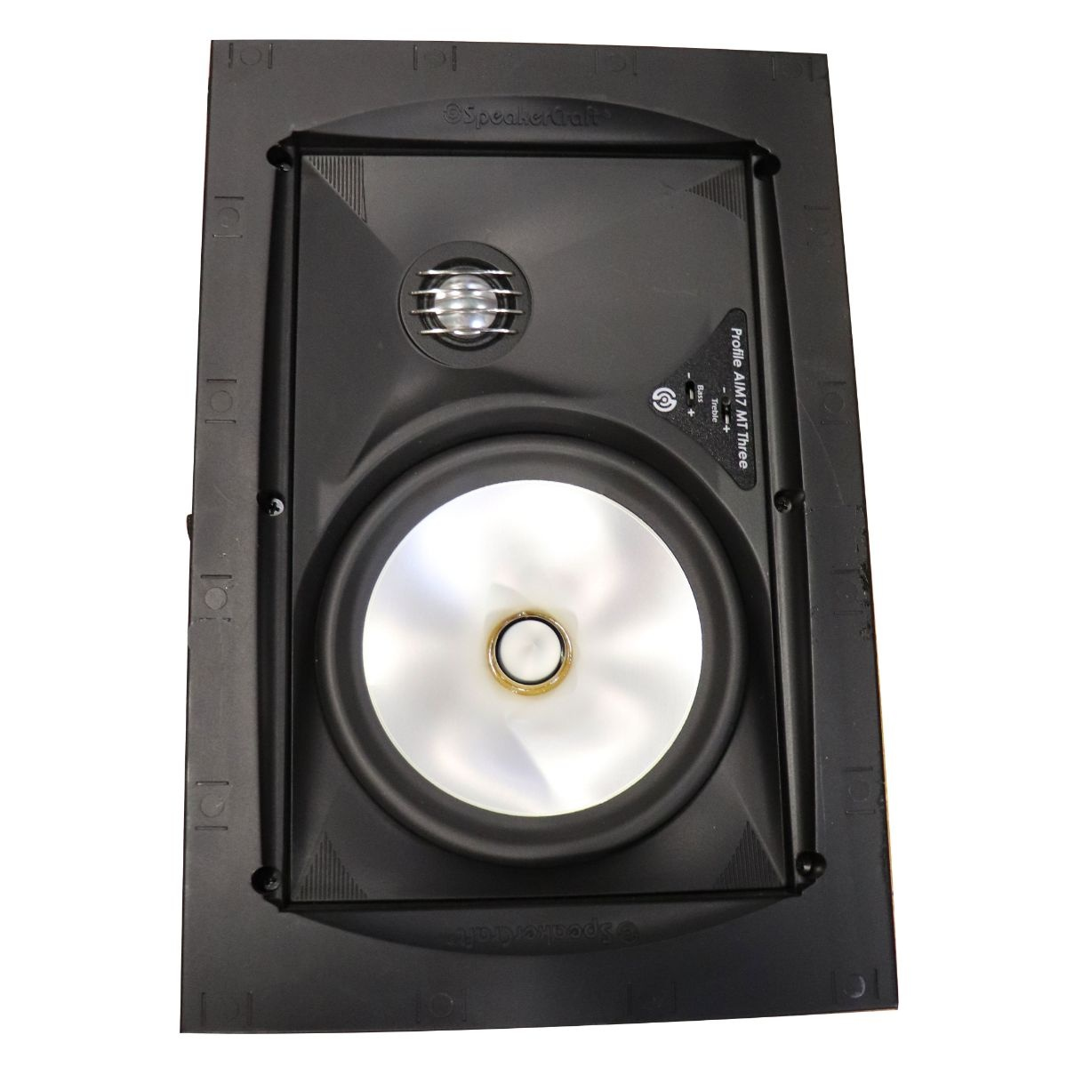 SpeakerCraft Profile AIM7 MT Three 7-inch In-Wall Speaker - Black (Single)