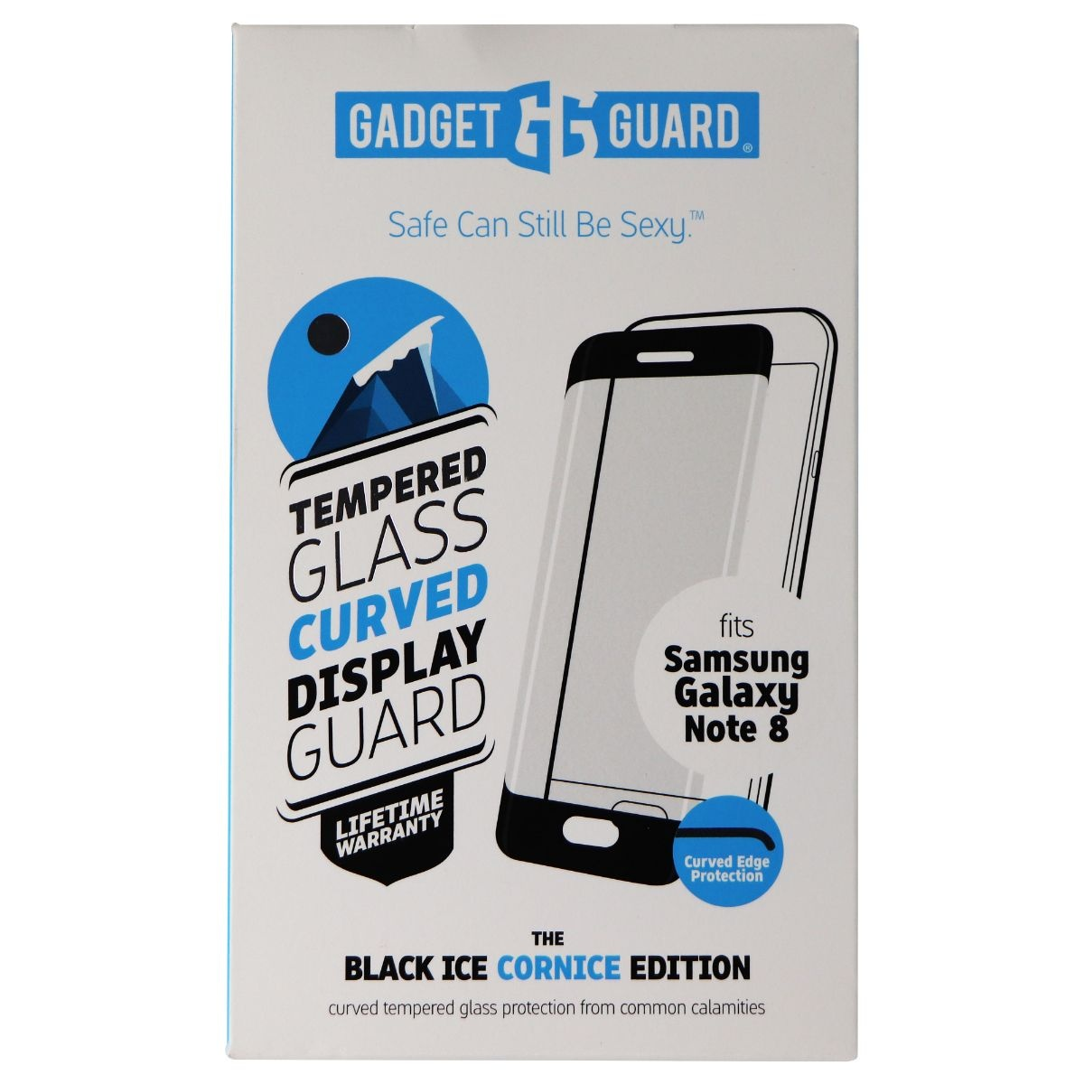 Gadget Guard Black Ice Cornice Tempered Glass Screen Protector for Galaxy Note 8