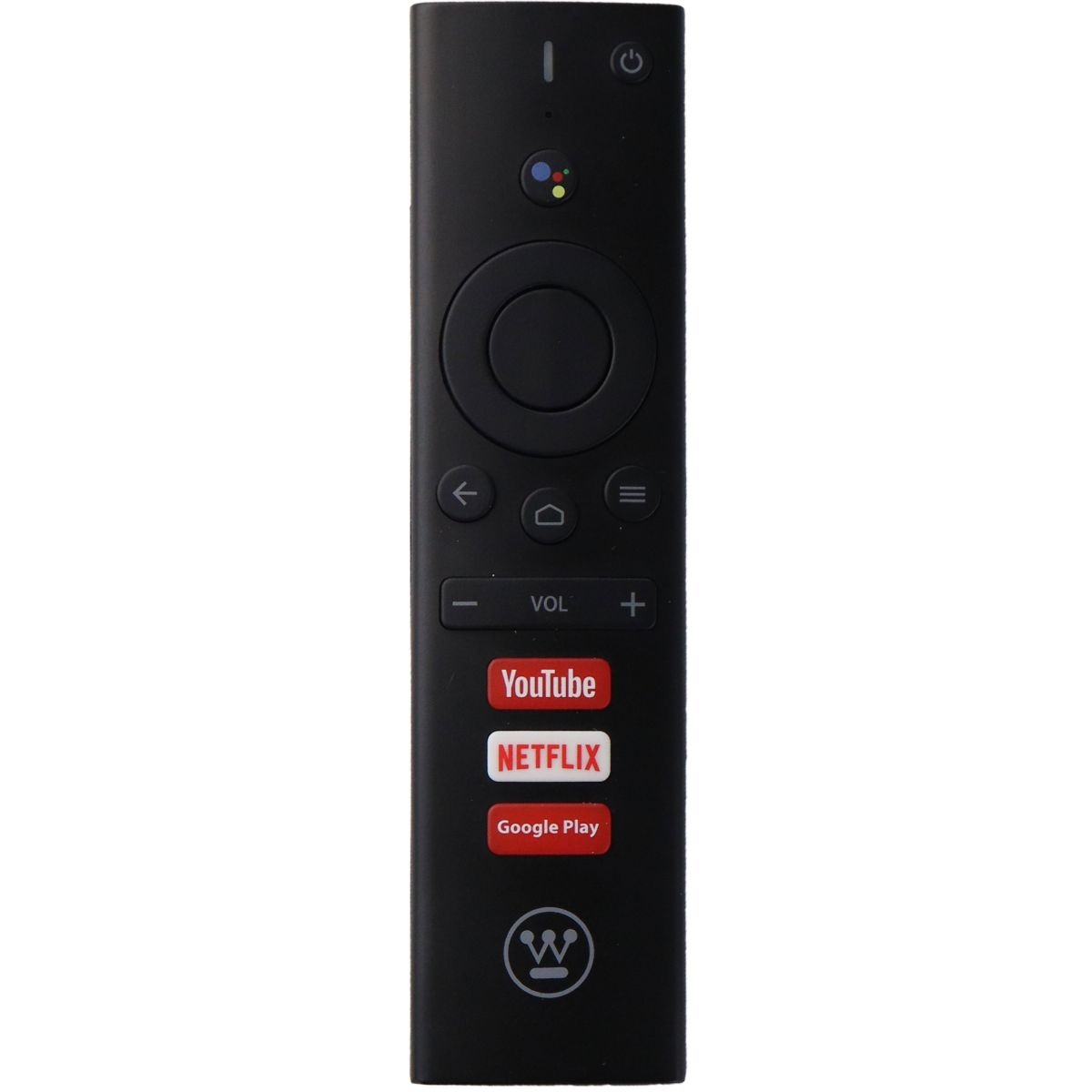 Westinghouse Smart TV Remote with Youtube / Netflix / Google Play Buttons- Black