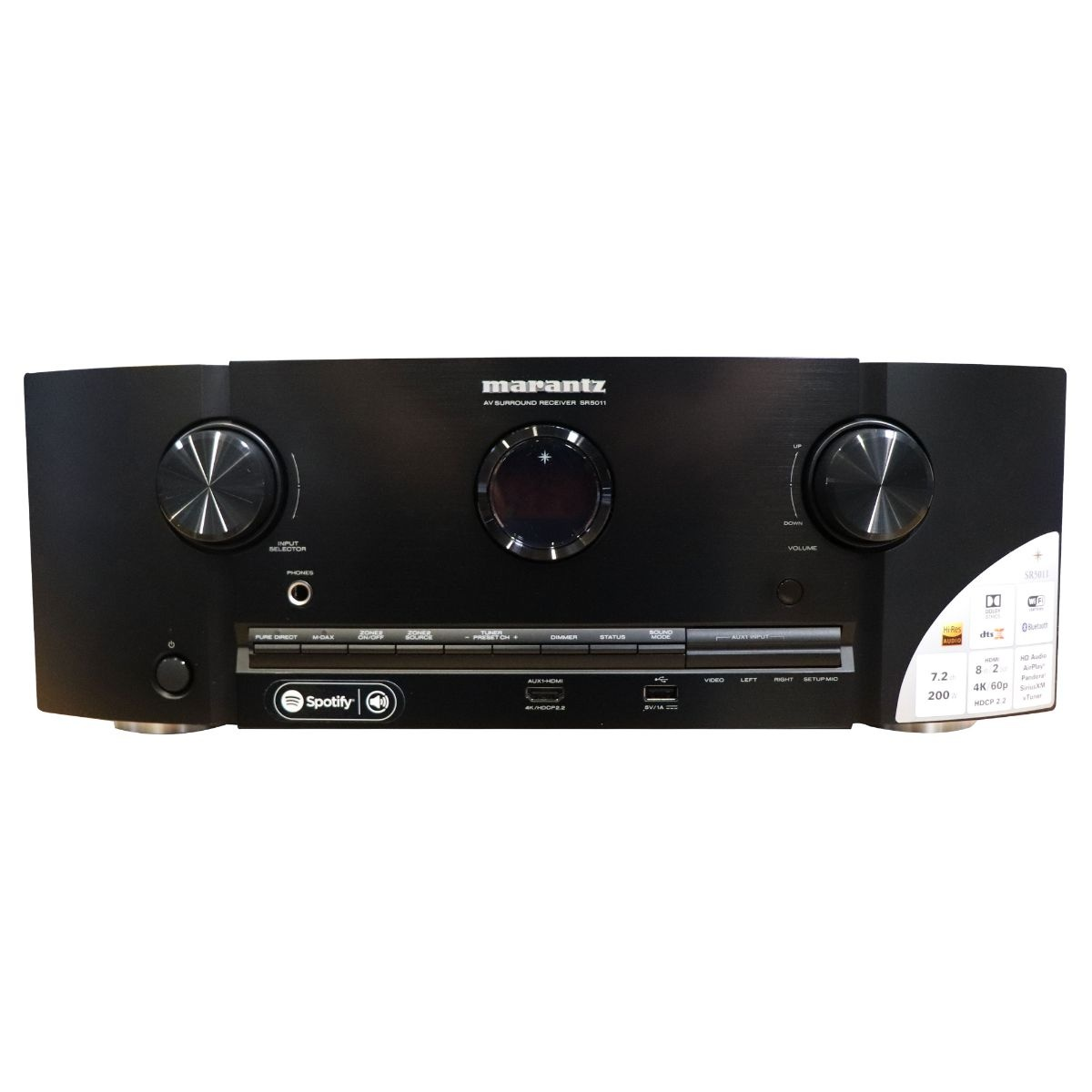 Marantz SR5011 7.2 Channel Network Audio/Video Surround Receiver w/ Bluetooth