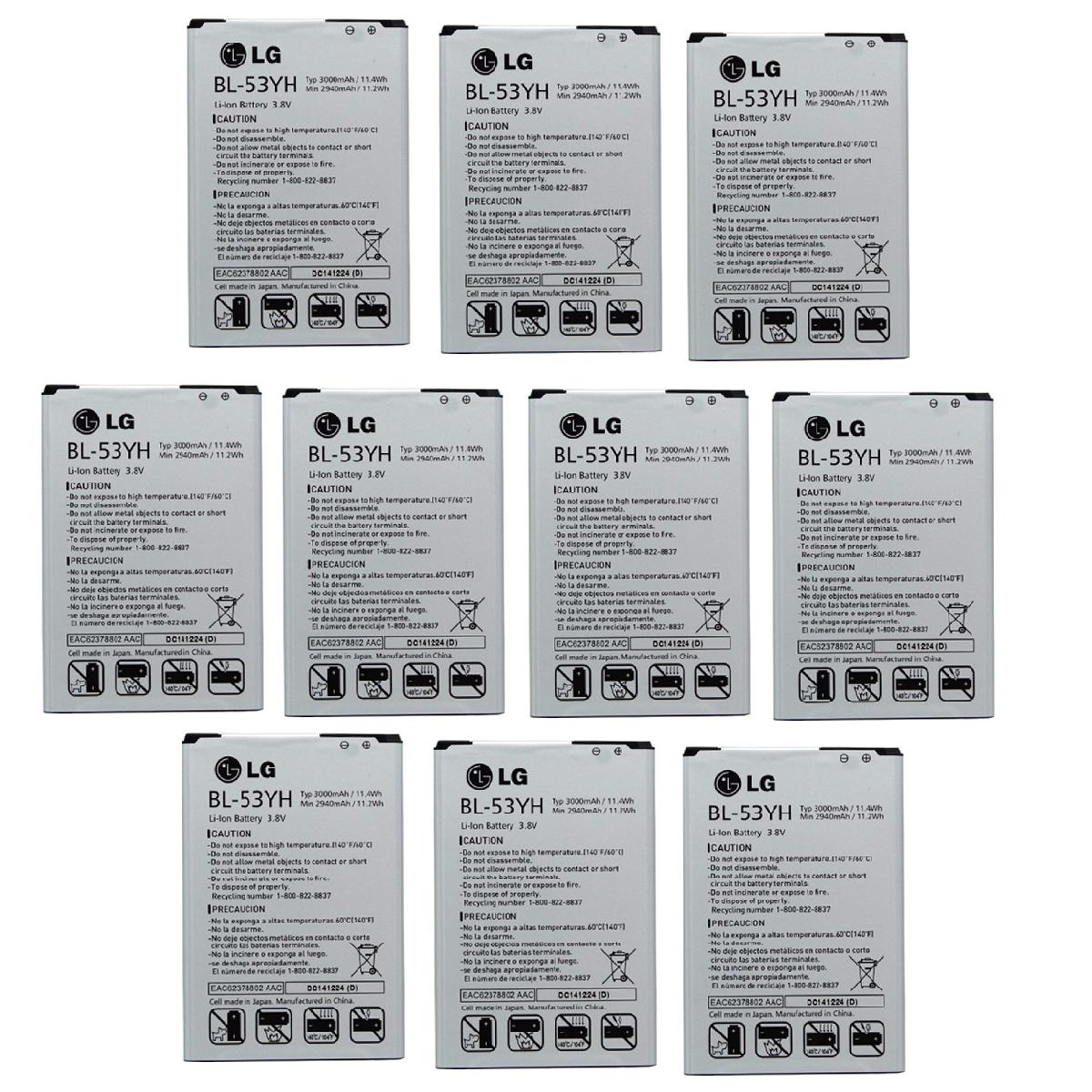KIT 10x LG BL-53YH Battery for G3 VS985 F400 D850 D855 3000mAh