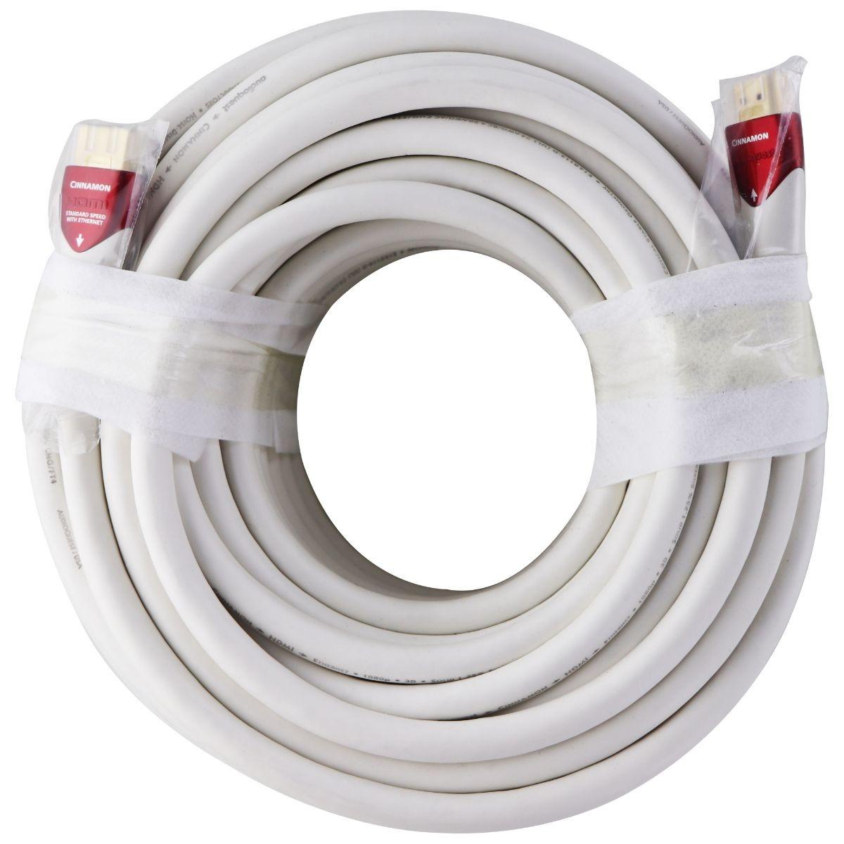 AudioQuest Cinnamon 20m (65 Ft) White PVC Jacket 600Hz HDMI Ethernet / 3D Cable