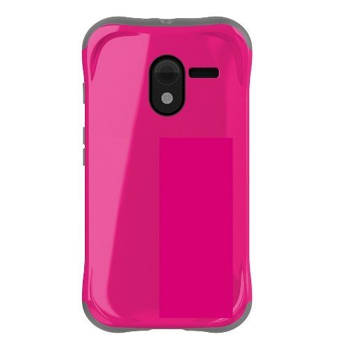 Ballistic Aspira Series Hybrid Case for Motorola Moto X Smartphone - Pink / Gray