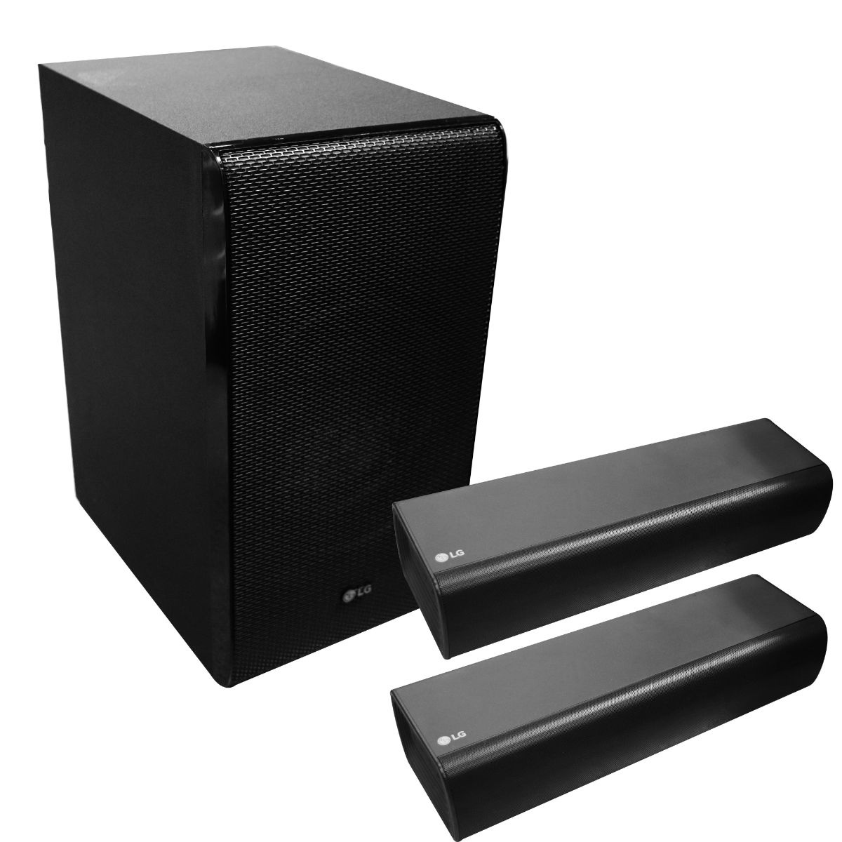 LG SJ7 Dual Speaker Sound Bar Flex with Wireless Subwoofer - Black
