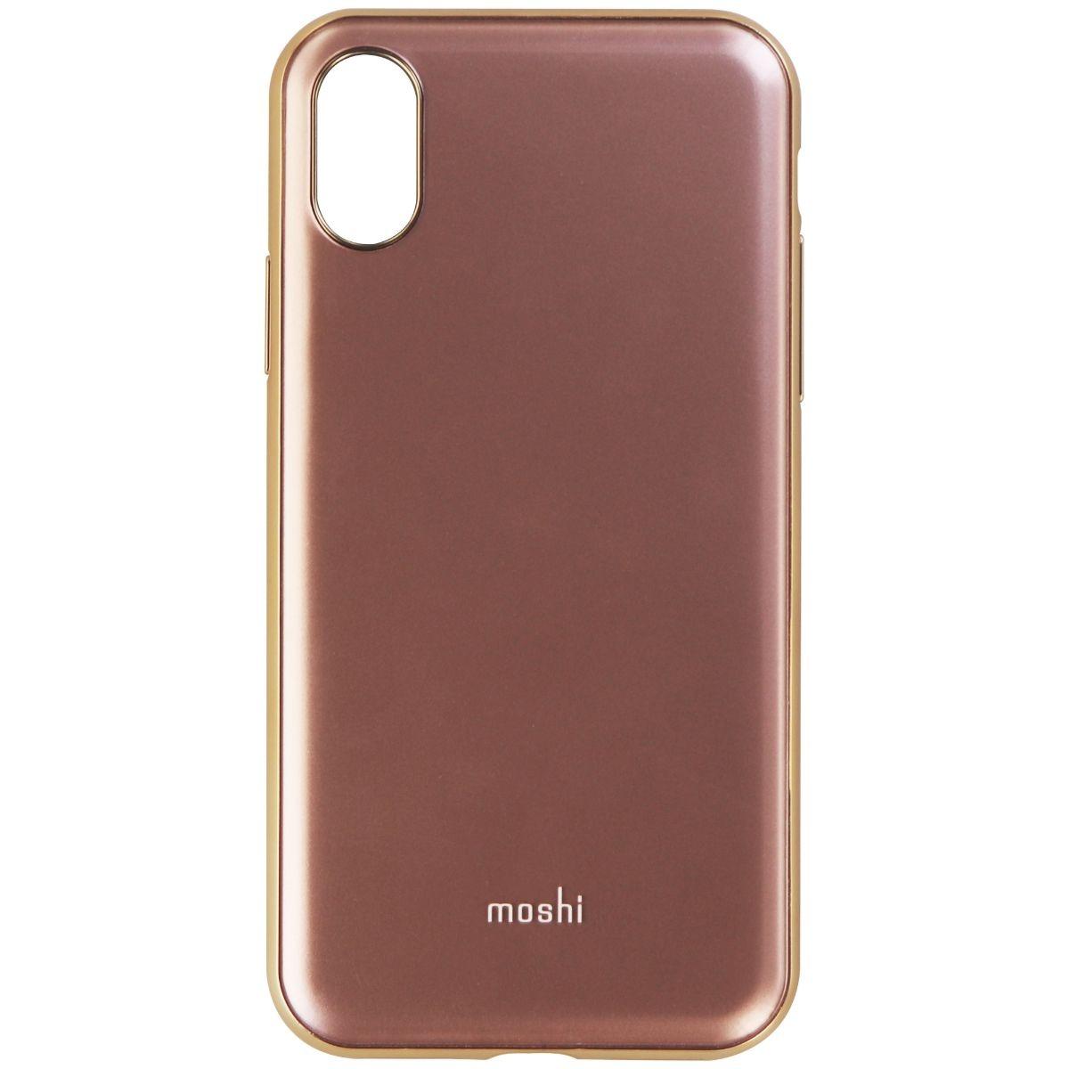 Moshi iGlaze Series Hybrid Hard Case for Apple iPhone X - Pink / Gold